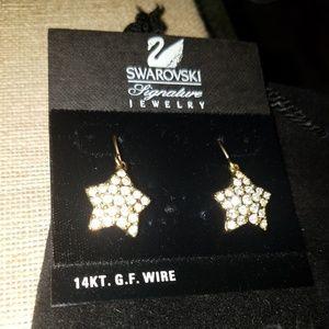 SWAROVSKI SIGNATURE star dangle earrings